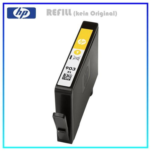REF903XLY Refill Tinte Yellow für HP - T6M11AE - Inhalt ca. 14,2ml (kein Original)