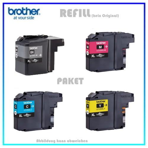 Multipack LC129XL Alternativ Tintenpatronen für Brother LC129XLVALBPDR - BK=2400 S. C,M,Y= je 1200 S