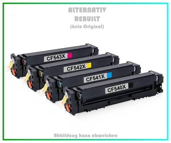 TONCF540X Rainbow Kit Alternativ Tonerkartusche Black+Cyan+Magenta+Yellow HP - CF540X,541,542,543
