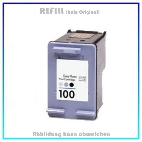 REF100 Refill Tinte Foto Grey für HP - C9368A - Inhalt 15ml, kein Original.