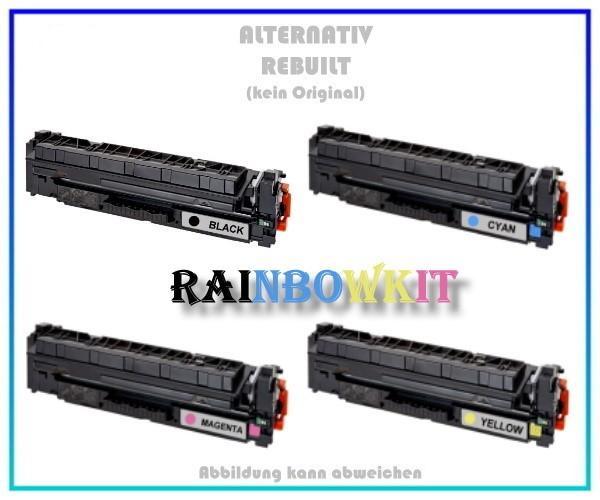 TONCF410XKIT Alternativ Rainbowkit HP CF410X BK+C+M+Y,410X,Laserjet Pro M 450,BK=6500 S,C,M,Y=5000 S
