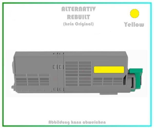 TONC532XXLY Alternativ Toner C532XXL Yellow für Oki - 46490605 - 6.000 Seiten