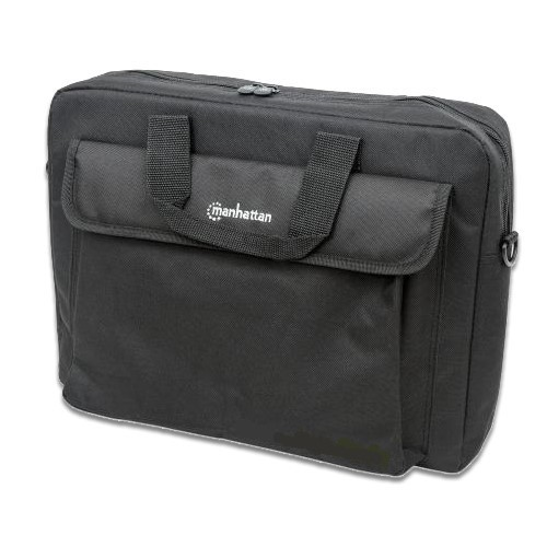 """Manhattan Notebooktasche London, Notebooktasche für Notebooks bis 15,6"""", 310x410x70mm, schwarz"""