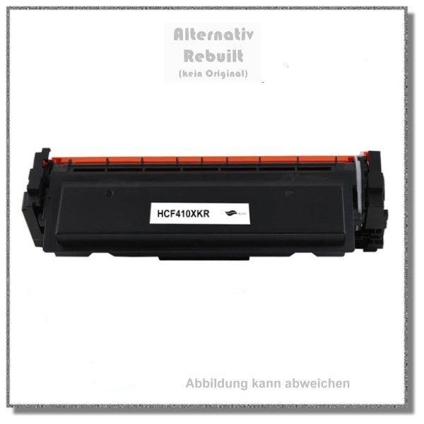 HCF410XKR Alternativ Toner für HP CF410X, 410X, Farbe Schwarz, HP Remanufakture, Inhalt 6500 Seiten,