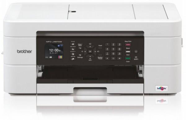 Zur Zeit nicht lieferbar - Brother MFC-J 497 DW Tinten Multifunktionsgerät Drucken, Scannen, Faxen u