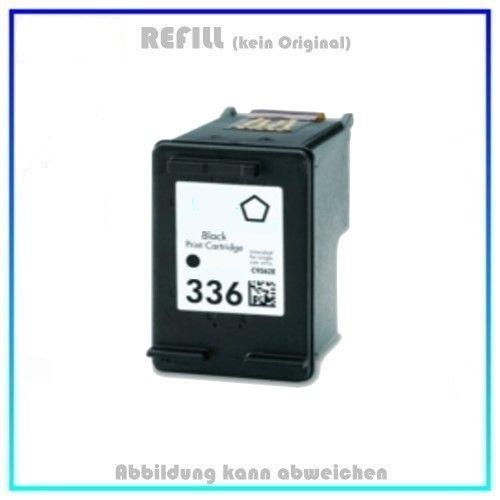 REF336 Refilltintenpatrone Schwarz (C9362EE) 10ml, passend für HP Deskjet 5420 V - Deskjet 5432