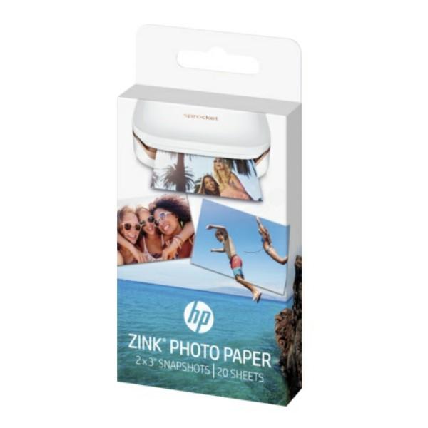 W4Z13A - HP ZINK® Sprocket Fotopapier - W4Z13A - selbstklebend 20 Blatt 5 x 7,6 cm