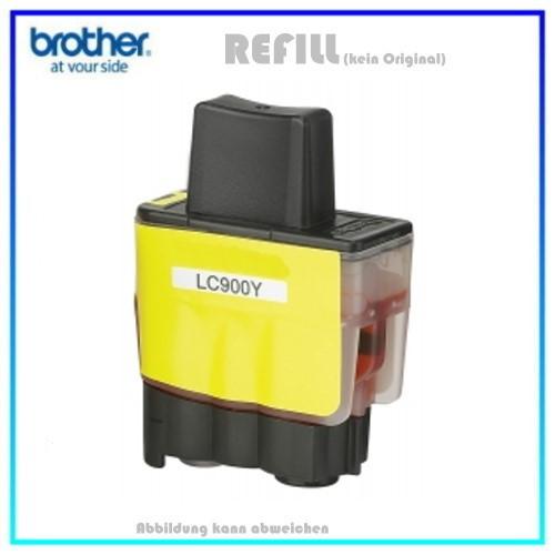 LC900Y (Schachtel) Alternativ Tinte Yellow für Brother LC900Y - Inhalt 16,6ml (PATENT SAFE)