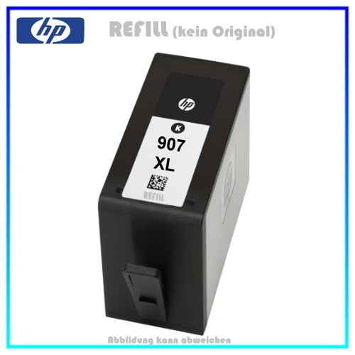 REF907XLBK Refill Tintenpatrone Black für HP T6M19AE - Officejet PRO 6860, 6900, 37ml, kein Original