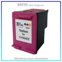 HP-301CXL, REF301CXL Refill Tintenpatrone Color - HP CH564EE - passend für HP Deskjet 1000,Envy,12ml