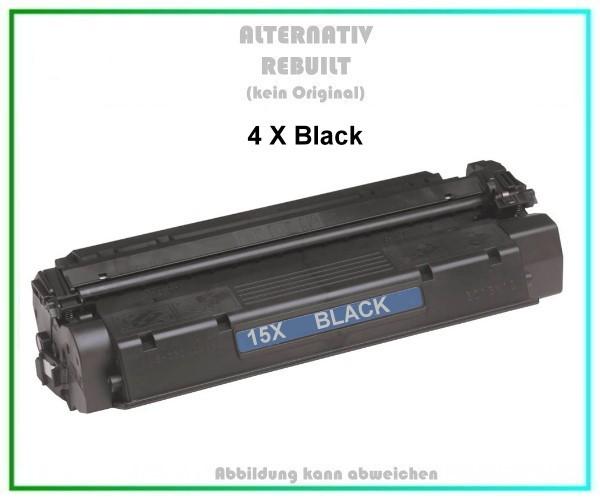 4er Set TON15X Alternativ Tonerkartusche Black für HP, C7115X, Canon, HP, Troy, Inhalt 4x3500 Seiten