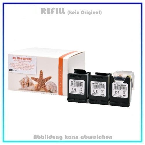 REF302BKXL Ecosaver 3-facher Nutzen, Black Snaps Refill - F6U68AE - Inhalt 3x18ml (kein Original).