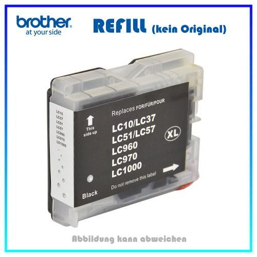 LC1000 - LC970BK (NEUTRAL) Tintenpatrone schwarz 37ml, Brother