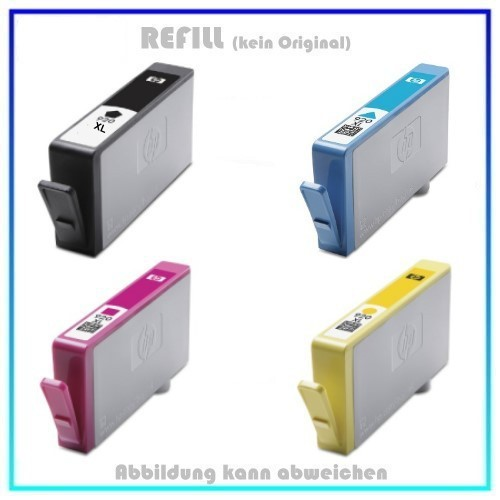 HP-920XL, Multipack 920XL Alternativ Tinte für HP - C2N92AE - 1X BK=55ml - je 1X C,M,Y=18ml