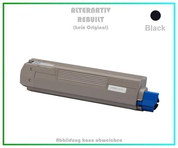 TONC610 Alternativ Tonerkartusche Black für OKI C610, 44315308 - Inhalt 8.000 Seiten (kein Original)