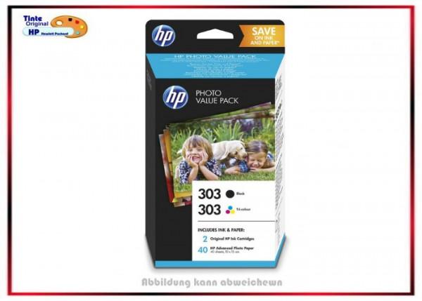 Z4B62EE - Original HP-303 Valuepack - Z4B62EE - BK+C+M+Y + 40 Blatt Photopapier