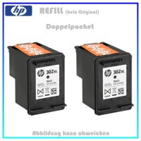 REF302BKXL - Doppelpack, HP Refill Patrone Black f. F6U68AE - HP Nr 302BKXL - Inhalt 2x 18ml.
