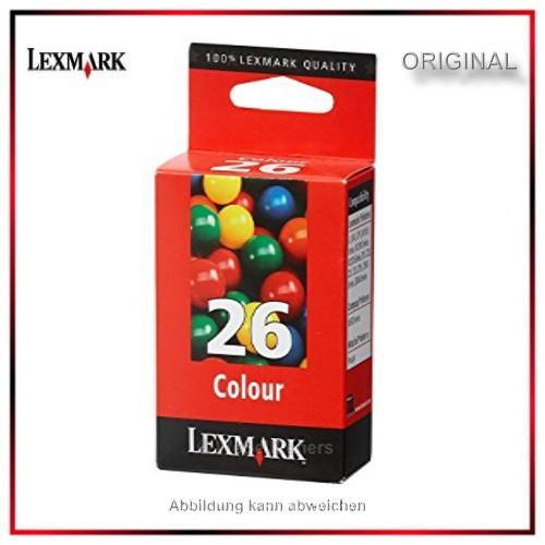 Nr. 26 - 10N0026 - Original Color Tintenpatrone 10N0026E - 10N0026 für Lexmark Z13 - 23 - 24 - 25 -