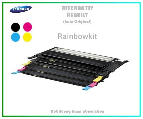 TONCLP310 - BK+C+M+Y - Alternativ Toner Rainbowkit Samsung CLT-P4092C, CLP 310 - CLP 315 - CLX 31
