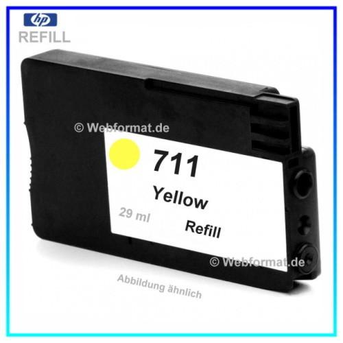 REF711 - Refill Tinte Yellow für Drucker HP Designjet T120 - T520 ePrinter - Inhalt ca. 29ml (kein O