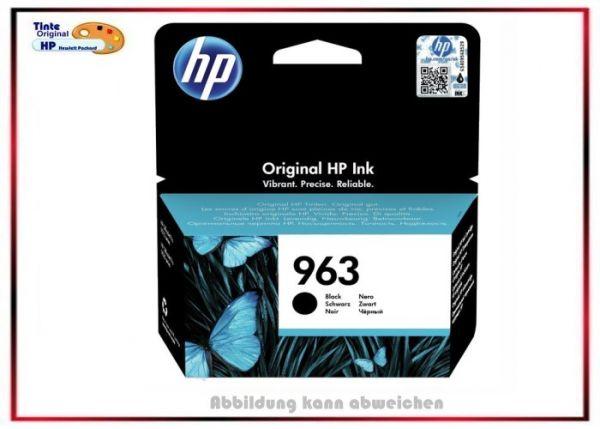 HP-963BK, HP Ink Cart. 3JA26AE, HP-963, Farbe: Black für Office Jet Pro, 3JA26AE, Inhalt 24,09 ml,