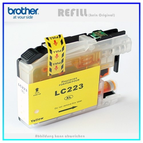 BULK LC223XLY Alternativ Tintenpatrone Yellow für Brother LC223Y - Inhalt ca. 10ml