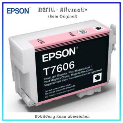 BULK T7606 Alternativ Tintenpatrone Light Magenta für Epson - C13T76064010 - Inhalt 32ml