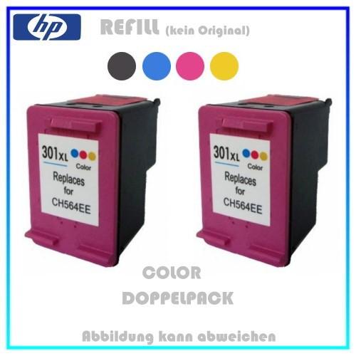 REF301CXL Doppelpack Refilltintenpatrone 2x Color - HP CH564EE - passend für HP Deskjet 1000,2x12ml