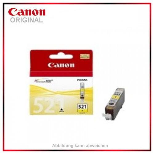 CLI521Y - 2936B001 - Yellow original Tintenpatrone f. Canon Pixma MP 620 - IP 4600 X - MP 540 - MP