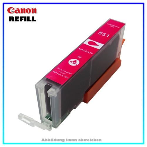 CLI551MXL (mit Chip) Alternative Canon Tintenpatrone (schmal) Magenta - 6510B001 - Inhalt ca. 15ml