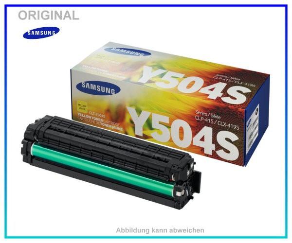 CLP415Y - CLT-Y504S/ELS - Original - Toner - Yellow - fuer Samsung CLP415 - CLX4195 ca. 1.800 Seiten