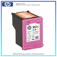REF302CXL - HP Refill Patrone Color f. F6U67AE - HP Nr 302CKXL - Inhalt ca. 18ml.