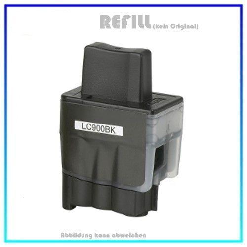 LC900BK (Schachtel) Alternativ Tinte Black für Brother LC900-BK - Inhalt 25,6ml (PATENT SAFE)
