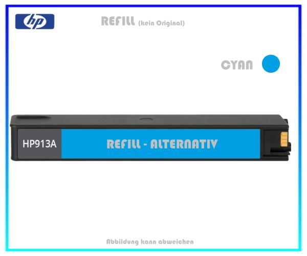 REF913C Refill Tintenpatrone Cyan für HP F6T77AE - 913C - HP913 - Inhalt ca. 55ml