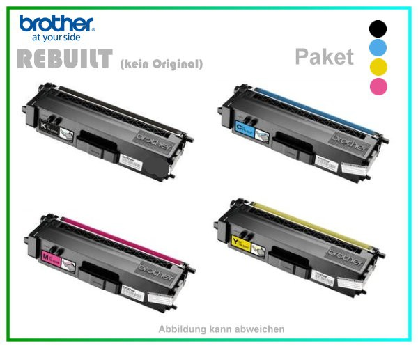 TONTN325-PAK - TN-325 - TN320 - 1x Black - 1x Cyan - 1x Magenta - 1x Yellow - Alternativ Lasertoner