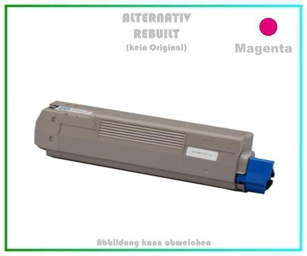 TONC610 Alternativ Tonerkartusche Magenta für OKI C610, 44315306 - Inhalt 8.000 Seiten kein Original