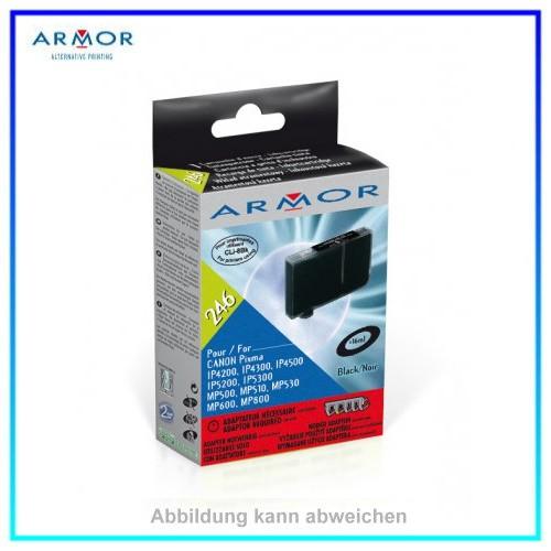 246 Armor CLI8 black (nur mit Adapter aus StarterSet verwendbar) f. Canon,IP4200,16ml