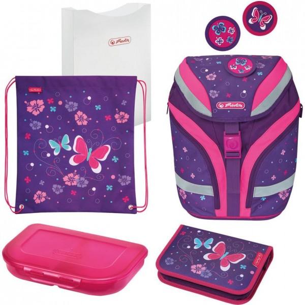Herlitz Grundschulranzen für Mädchen, SoftFlex Plus Butterfly - 50025589