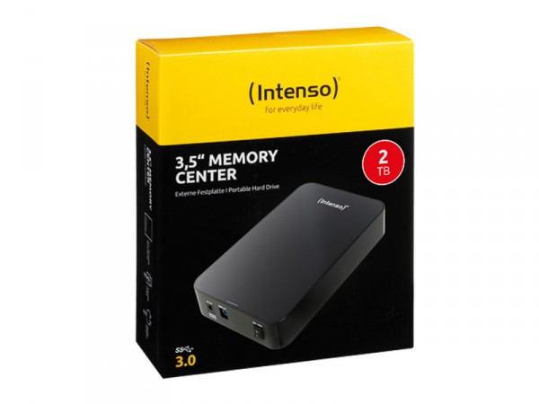 INTENSO 3.5 HDD FESTPLATTE EXTERN 2TB 6031580 USB 3.0 MEMORY CENTER