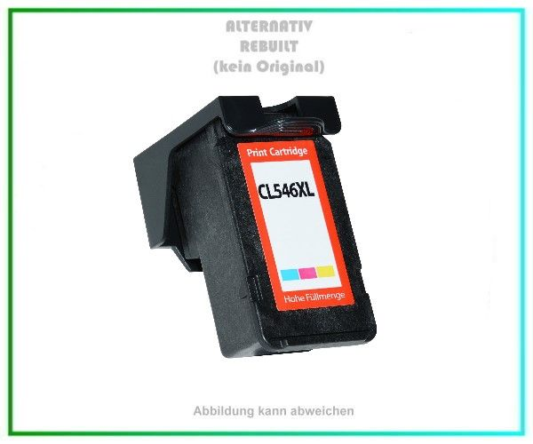 ECO-Tintenpatrone / Druckkopf (Rebuilt) für Canon CL-546 XL, 8288B001, Color CL546XL, Inhalt ca. 13m