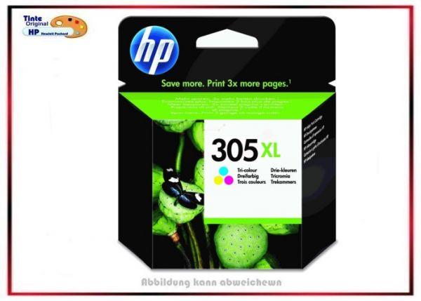 HP-305XLC, HP Ink Cart. 3YM63A, HP-305XLC, Farbe: Color Original für Deskjet 2700, 3YM63A, 240 Seite
