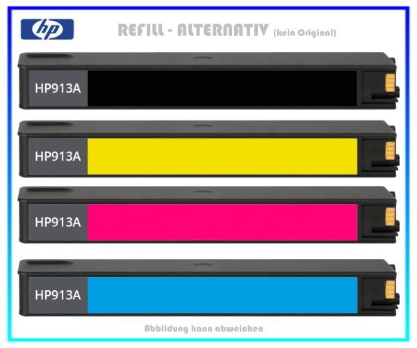 PACK - REF913BK + REF913C + REF913M + REF913Y Refill Tintenpatrone Black,Cyan,Magenta,Yellow HP-913