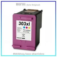 HP-303XLC, REF303XLC, HP303XLC, T6N03AE, Refill Tinte Color für HP - Inhalt 10ml