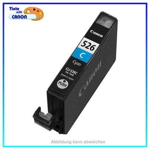 BULK CLI526C Alternativ Tinte Cyan für Canon - 4541B001 - Inhalt ca. 10ml - mit Chip.(kein Original)