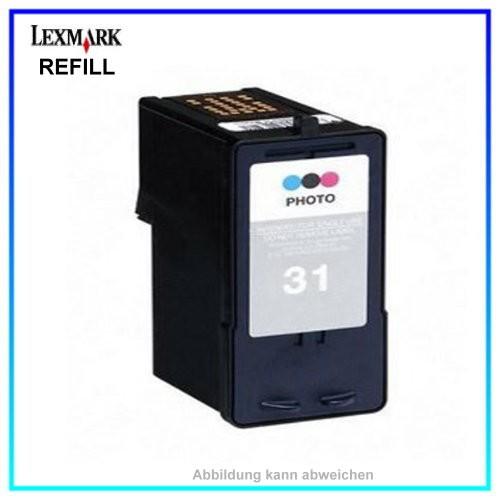 REF0031 Refill Tinte Foto Color für Lexmark - 18C0031 - Inhalt ca. 20ml.