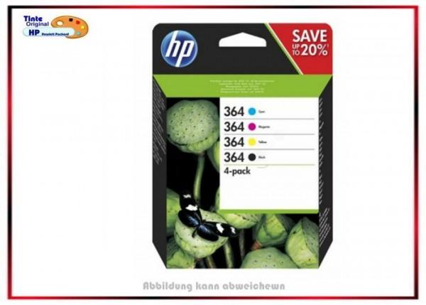 HP Original Tintenpatronen N9J73AE - Nr. 364 BKCMY - BK=300Seiten,+c,m,y=je300Seiten