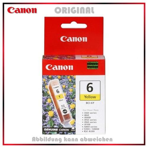BCI6Y - 4708A002 - Yellow Original Tinte f. Canon Si560 - Si800 - Si820 - Si900 - BJC8200 - 280 S.