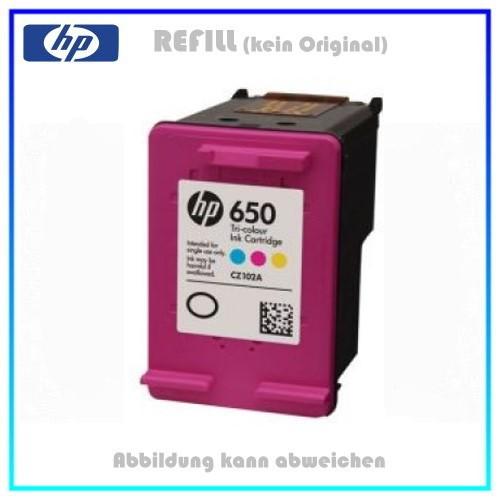 REF650XL Refill Tintenpatrone Color für HP - CZ102AE - Inhalt ca. 16ml (kein Original)