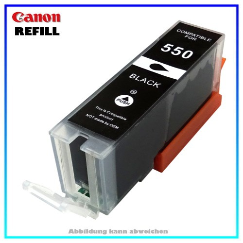 PGI550BKXL Alternative Tintenpatrone Canon Black - 6431B001 - Inhalt ca. 23ml (kein Original)