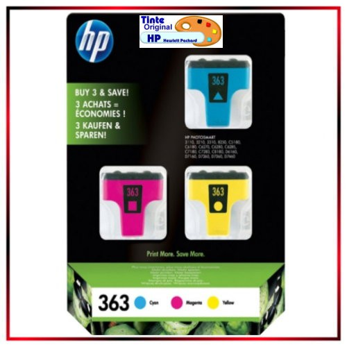 3er-Pack - Nr.363 - CB333EE - 1xC - 1x M - 1x Y - Original HP Tintenpatronen